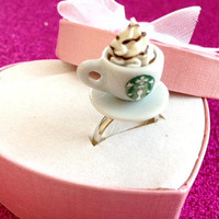 Adjustable Starbucks Ring by MysteresMasquerade on Etsy