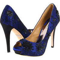 Badgley Mischka Stella Royal Blue Satin - Zappos.com Free Shipping BOTH Ways