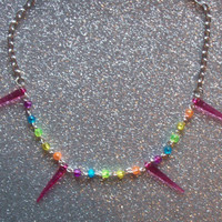 Rainbow Spike Necklace