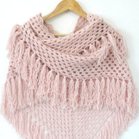 hand crocheted shawl,pink shawl,neckwarmer,women fashion,soft,warm,shawl trends,crocheted trends,Valentine's Day gift
