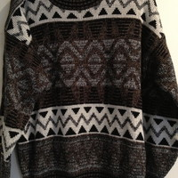 Vintage Geometric Sweater