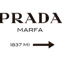 Prada Marfa Stretched Canvas by productoslocos | Society6