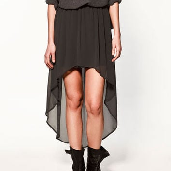 ASYMMETRIC SKIRT - Collection - Skirts - Collection - Woman - ZARA United States