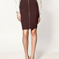 SHEATH SKIRT WITH ZIP - Collection - Skirts - Collection - Woman - ZARA United States
