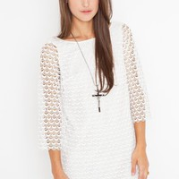 Scalloped Lace Dress in Clothes Dresses at Nasty Gal