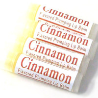 Natural Plumping Lip Balm Cinnamon by SSSoap on Etsy