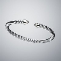 David Yurman | Sterling Silver & Cuff Bracelets | Women's Jewelry | David Yurman | 5mm Pave Cable Classics Bracelet