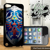 NEW iPod Touch 5 Case - Zelda Inspired Hylian Shield Hyrule - 5 Gen Cover GEN5
