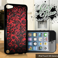 NEW iPod Touch 5 Case - Red Roses Art - 5 Gen Cover GEN5