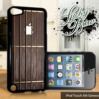 NEW iPod Touch 5 Case - Guitar Neck with Apple Inlay Acoustic - 5 Gen Cover GEN5
