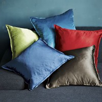 Solid Silk Pillow Covers | west elm