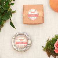 Perfume, Southern Peach Rose - Earthy Floral and Sweet Peach - All Natural Solid Fragrance