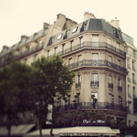Paris Photograph, Cafe de Flore, Paris Decor, Left Bank, St Germain, Travel photography - Drinking Coffee Elsewhere