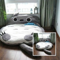 Totoro models 230*175CM Totoro Double bed sleeping bag sofa large gift For Kid