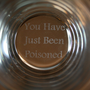 You have been Poisoned Pint Glass