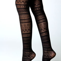 Gemma Black Aztec Tight