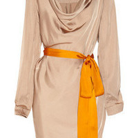Vionnet|Belted satin dress|NET-A-PORTER.COM