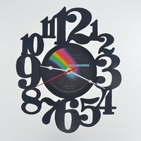 Vinyl Record Clock (artist is Olivia Newton-John)