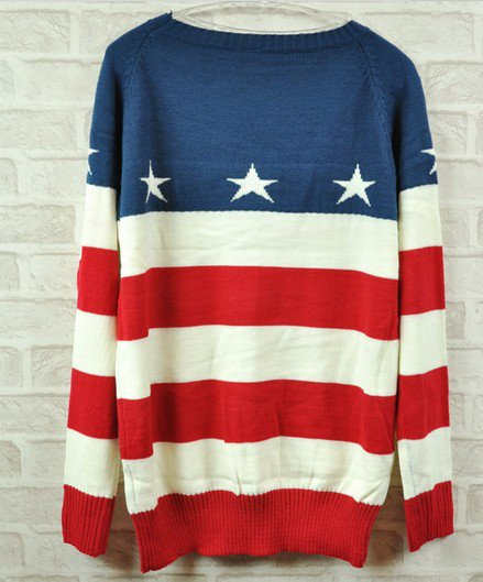 USA Stars &amp; Stripes Sweater