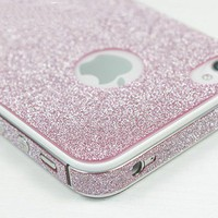 Shiny Pink Rhinestone Fashion Sticker For iPhone 4S/5