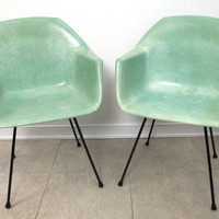 EAMES Herman Miller style SEAFOAM green fiberglass by TheAvidDiva