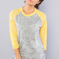 The Big League Baseball Tee in Grey Heather and Yellow : Alternative Apparel : Karmaloop.com - Global Concrete Culture