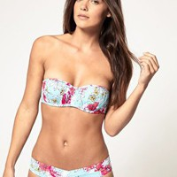 Sunseeker | Sunseeker Ruched Balconette Bikini Top With Hidden Underwire at ASOS