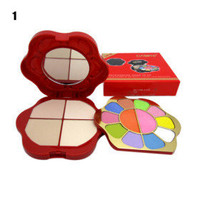 professionellen Make-up-Mini-Set - 10 Farben Lidschatten + 2 + 4 Farben Rouge Farben Puder (0119-9) - US$10.27