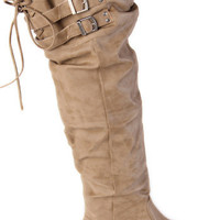 Nomada Tan Knee High Boots - $89.00 : ThreadSence.com, Your Spot For Indie Clothing  Indie Urban Culture
