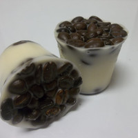 French Vanilla Roast Coffee Bean Wickless Votive Candle Soy Tart