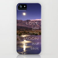 Love you to the moon and back.  Valentine's Day iPhone Case by Guido Montañés | Society6