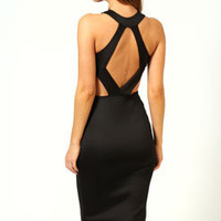 Kate Cut Out Sides Backless Midi Bodycon Dress