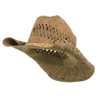 Straw Cowboy Hat-Natural Roll W35S16A