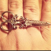 Scissors, Very Fashionable Two Finger Ring