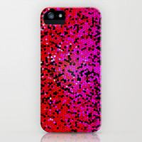 STAINED GLASS PINKS iPhone Case by catspaws | Society6