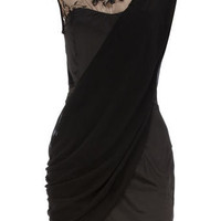 Black drape dress - View All New In  - Dorothy Perkins