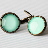 Minty Green Dangle Earrings