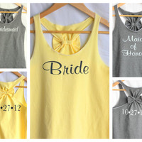 Bridal Party 4 shirt Set with Wedding Date