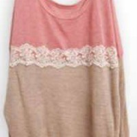 *Free Shipping@ Pink Women Knitting Sweater One Size YL948298p from efoxcity