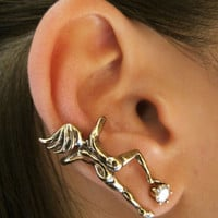 Bronze Ear Woman Ear Cuff
