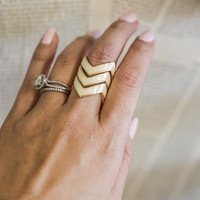 Chevron Stackable Rings