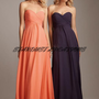 Sweetheart Strapless Floor Length Ruffles Chiffon Bridesmaid Dresses**FREE SHIPPING**