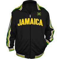 Jamaica World Cup Soccer Track Jacket (Black)