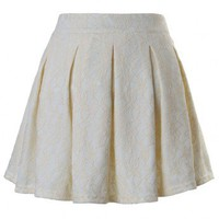 Lace Skater Skirt in White - New Arrivals - Retro, Indie and Unique Fashion