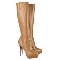 Christian Louboutin Alti Botte 140mm Leather Boots Camel - $228.00