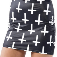 Cross of St Peter Black Skirt - LIMITED | Black Milk Clothing