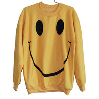 Smile Sweatshirt Select Size by BurgerAndFriends on Etsy