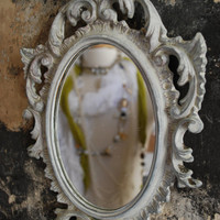 A shabby chic and vintage mirror by mariesophievoisin on Etsy