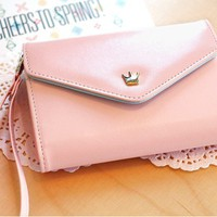 Ladies Crown Smart Pouch Purse at Online Accessory Store Gofavor