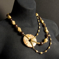 Chunky Picture Jasper Necklace by AnandaBijoux